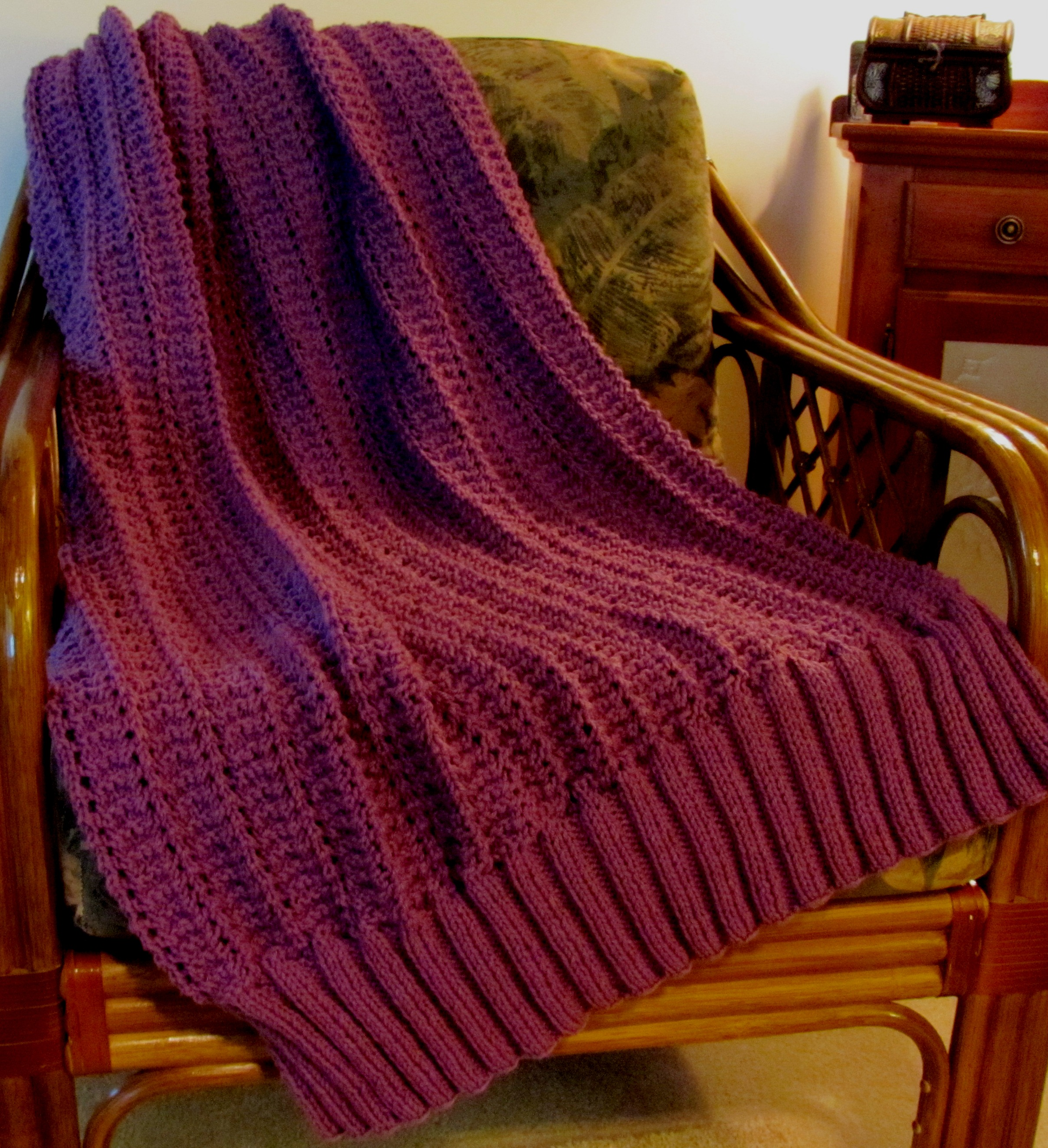 Nice Easy Knit Afghan Patterns Picture Collection - Easy Scarf ...