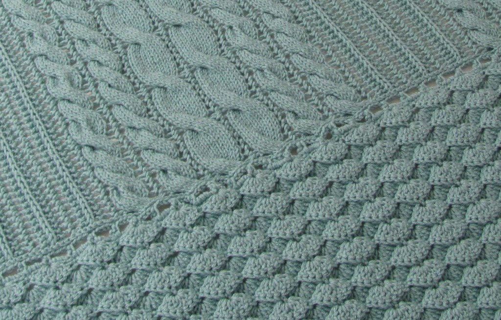 Crochet Cable Stitch : Crochet Cable Baby Blanket Pattern