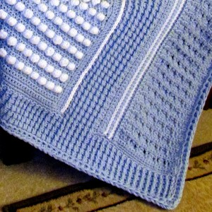 Skerin Aran In Crochet Blue Details Photo
