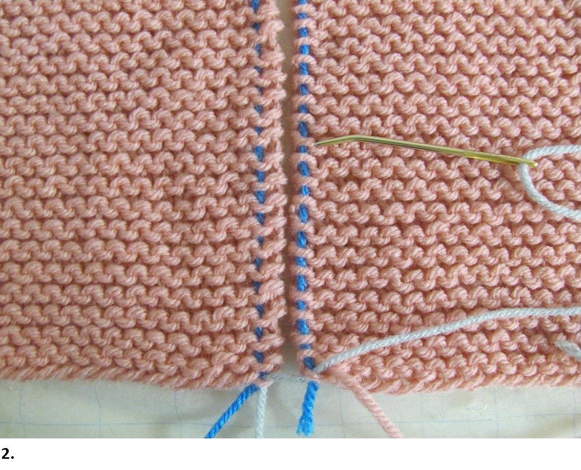 Knitting Edge Stitch For Seaming : Garter stitch seams invisible join how tos with photos