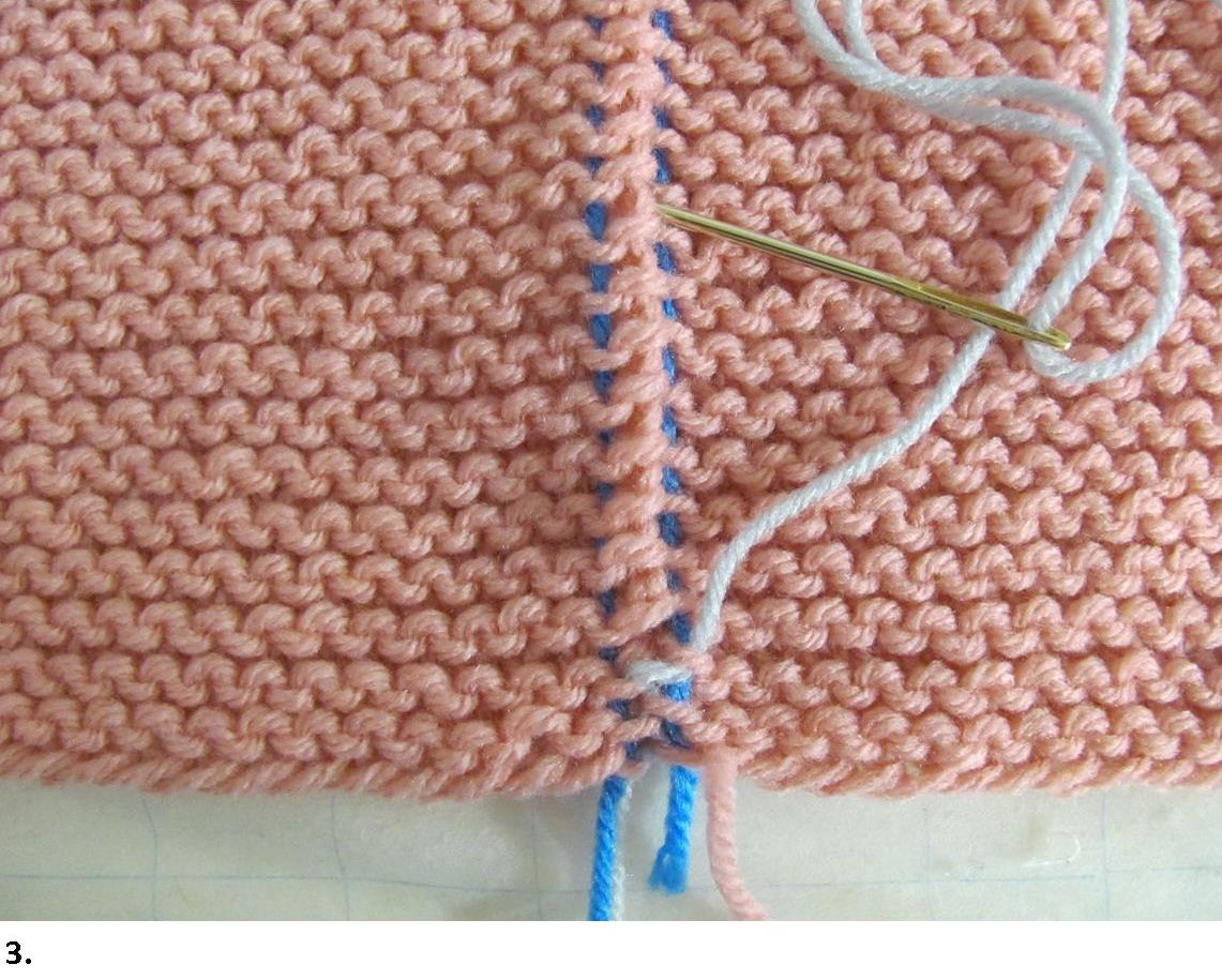 Knitting Joining Seams Garter Stitch : Garter stitch seams invisible join how tos with photos