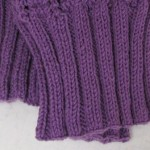 How to Create & Wk a Knitted Rib Onto a Crocheted Vest or Sweater.FEATURE PHOTO FOR HOME PAGE