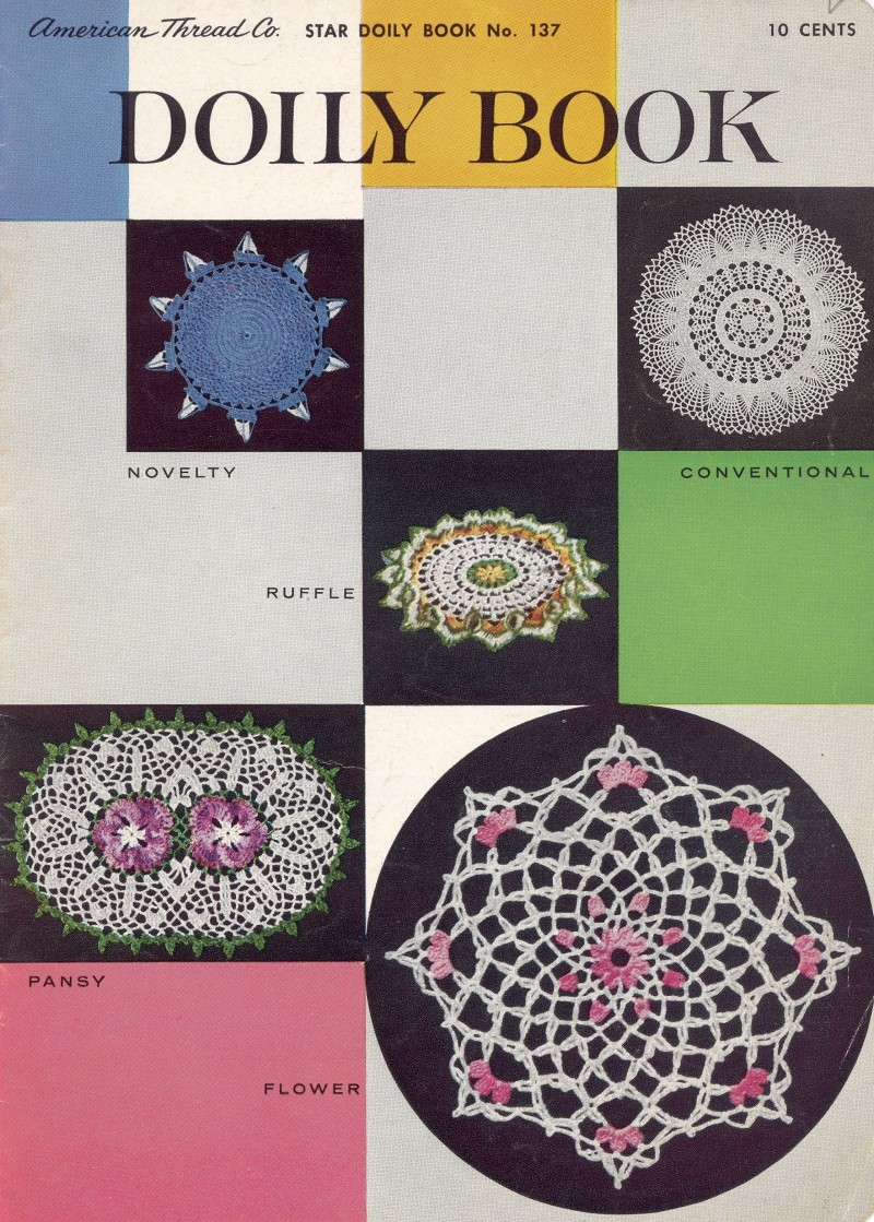 Novelty Knitting Pattern Books : Doily Book Novelty Conventional Ruffle Pansy Flower Book 137 sk184 cash/money...