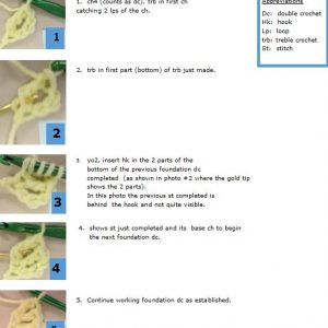 how to foundation double crochet