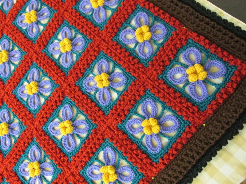 Colors On Hand For Rosanna Crochet Afghan Pattern
