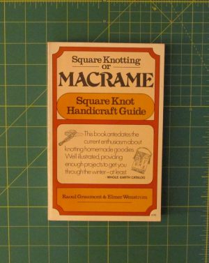 Square Knotting Or Macrame.Square Knot Handicraft Guide.1094
