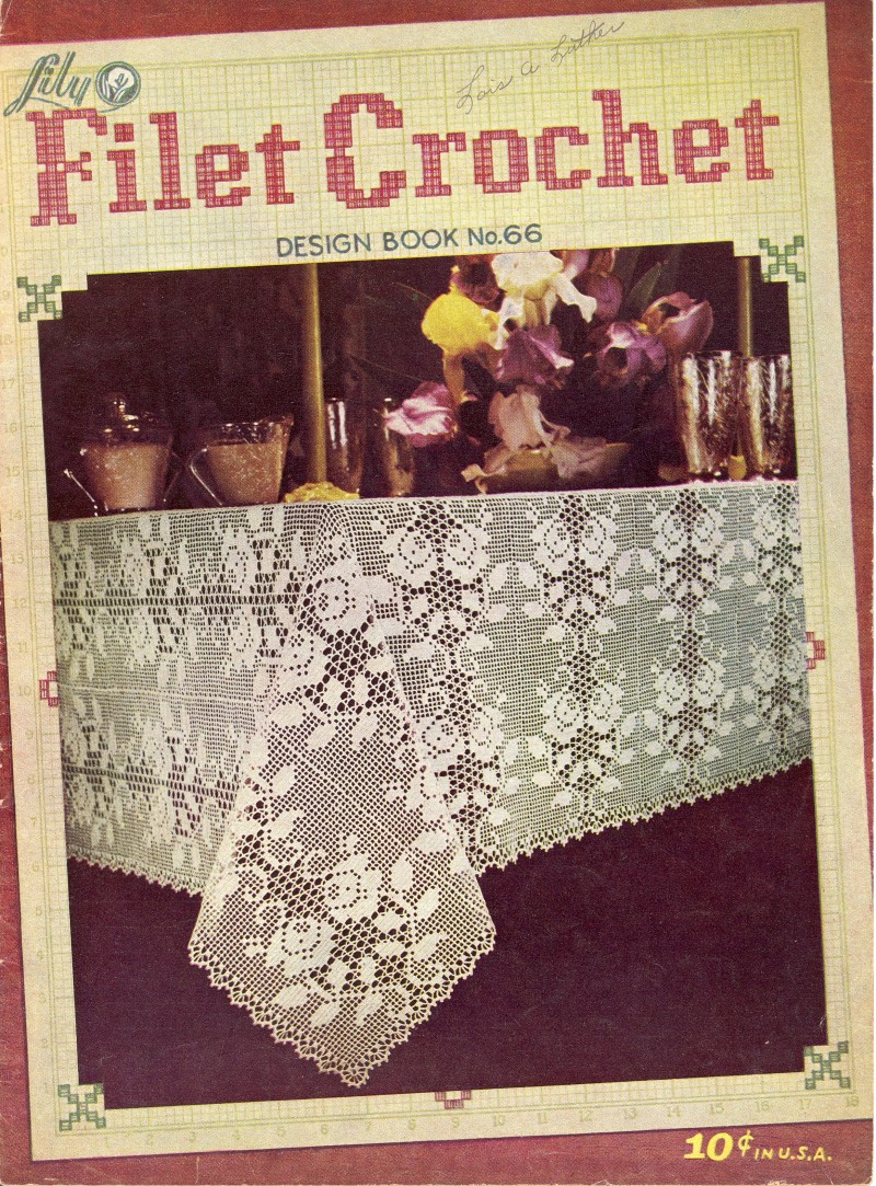Lily Filet Crochet Book 66 Sk190 Cashmoney Orders Accepted Knit