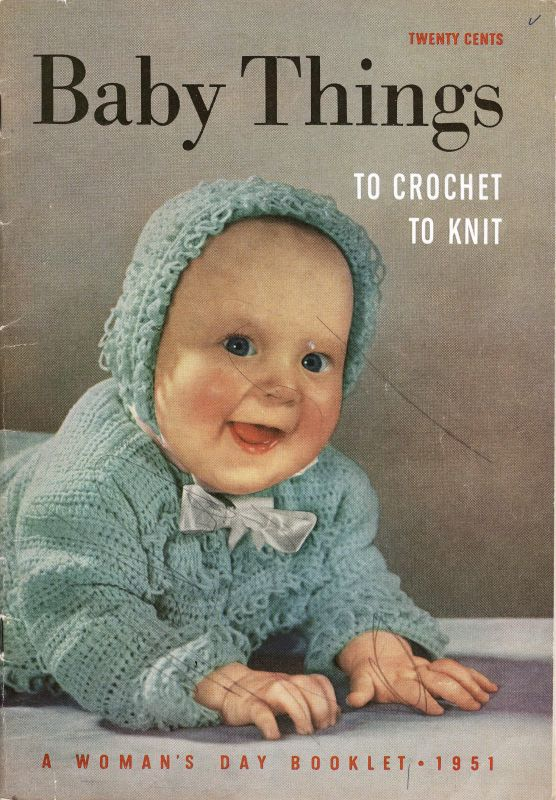 Baby Things To Crochet To Knit Womans Day 1951 48 Pgs Sk435 Cash